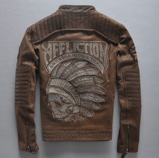 Мотокуртка Affliction American Castoms Light Brown