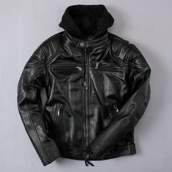Куртка (кожа) Harley-Angel с капюшоном